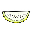 comic cartoon melon slice vector image