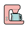 cute coffe maker graphic design vector image vector image