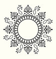 decorative black and white frame with circular vector image vector image