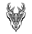 Deer head Ethnic pattern vector image