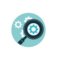 digital marketing magnifier analysis settings gear vector image