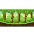 fantasy landscape game background vector image