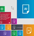 file AI icon sign buttons Modern interface website vector image vector image