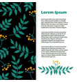 floral banner flyer with leaves and vector image vector image