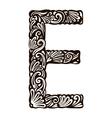 floral font E vector image