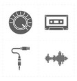 four universal flat music icons vector image vector image