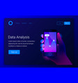 futuristic hi tech mobile technology concept vector image vector image