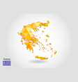 geometric polygonal style map of greece low poly vector image