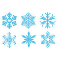 group of different snowflakes vector image