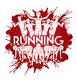 group of people running with text running marathon vector image vector image