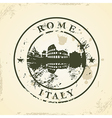 Grunge rubber stamp with Rome Italy vector image vector image