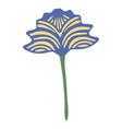 hand drawn vintage floral element decorative plant vector image vector image