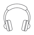 headphones music listen mobile outline vector image vector image