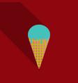 ice cream in waffle cone icon vector image vector image