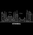 istanbul silhouette skyline turkey - istanbul vector image