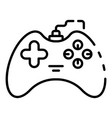 joystick gadget icon outline style vector image vector image