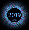 lilac discoball new year 2019 greeting poster vector image vector image