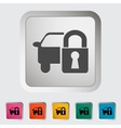 Locking car doors vector image vector image