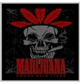 Marijuana Skull on grunge background for vector image vector image