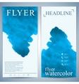 modern watercolor flyer or leaflet layout design vector image