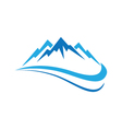 Mountains Logo Template vector image vector image