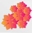 paper flower origami10 vector image vector image