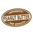 peanut butter sign or stamp vector image vector image