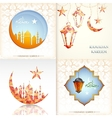 Ramadam kareem greeting cards set vector image vector image