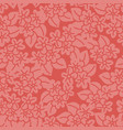red hibiscus handdrawn seamless pattern vector image