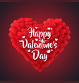 red valentine heart isolated on dark background vector image