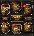 retro vintage golden badges and labels collection vector image vector image