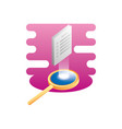 search magnifying glass with document vector image vector image