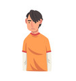serious young man male character facial emotions vector image vector image