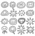 set of bacteria and virus vector image