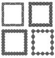 Set of black frame vector image vector image