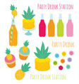set of decorative design elements for party vector image