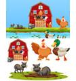 set of farm element vector image vector image