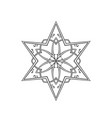 six pointed star zentangle isolated design vector image vector image