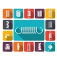 Spring Icons Colored vector image vector image