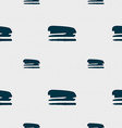 Stapler and pen icon sign Seamless pattern with vector image