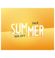 summer sale bright sunny banner vector image