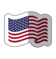 symbol american flag sign icon vector image vector image