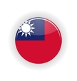 Taiwan icon circle vector image