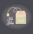 tea bag icon vector image