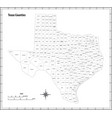 texas state outline map in black and white vector image vector image