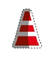 Traffic cone isolated vector image