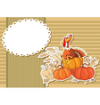 turkey sticker background vector image vector image
