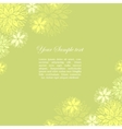 Vintage floral green background vector image