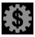 white halftone development cost icon vector image vector image