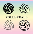 set of volleyball signs vector image